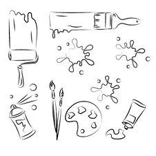 Free Vector Sketch Set Stock Image - 16037611