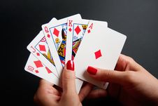 Free Royal Flush Royalty Free Stock Photography - 16037697