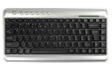 Free Style Black Metallic Keyboard Royalty Free Stock Photography - 16037997
