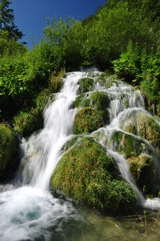Free Plitvice Waterfall Royalty Free Stock Image - 16038296