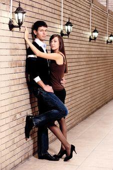 Free Pair Stay Near Brick Wall Stock Photos - 16038583