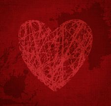 Free Red Heart. Stock Image - 16038691