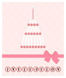 Pink Invitation Stock Photo