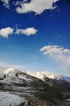 Snow Mountain Landscape Royalty Free Stock Photo