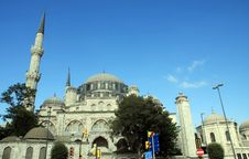 Sehzade Mosque In Istanbul Royalty Free Stock Photo