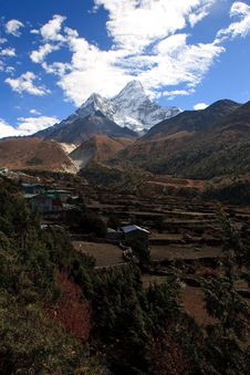 Free Ama Dablam Village Royalty Free Stock Photography - 16039067