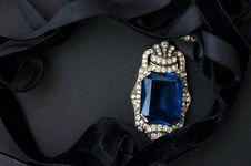 Free Jewelry With Ultramarine Glass Royalty Free Stock Image - 16039206
