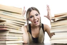 Free Girl With Books Royalty Free Stock Images - 16039399