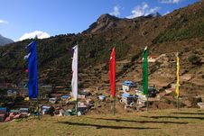 Free Flags In The Himalayas Royalty Free Stock Photos - 16039548