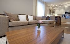 Designer Living Room Stock Photo