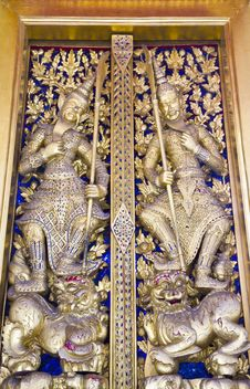 Free Temple Door Royalty Free Stock Image - 16039886