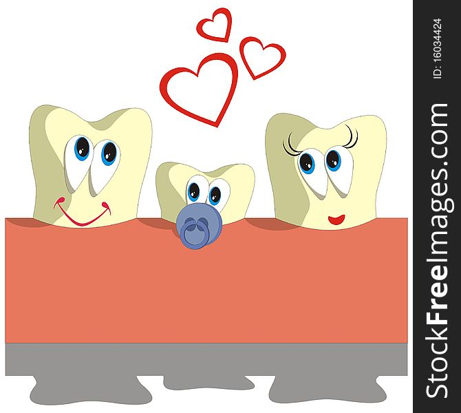 Tooth cartoon set 005