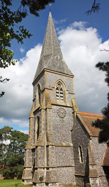 Free An English Village Church And Steeple Stock Image - 16040021