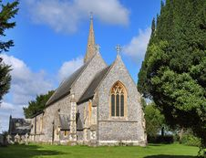 Free An English Village Church And Steeple Royalty Free Stock Image - 16040236