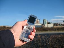 Free Mobile Phone Clear Blue Sky Stock Photography - 16040362