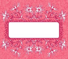 Free Pink Floral Banner Stock Photography - 16040422