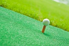 Free Golf In Grass Royalty Free Stock Photos - 16040678