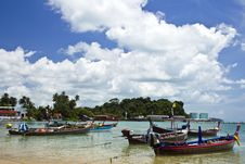 The Fishing Boat On Thai Sea Stock Photography