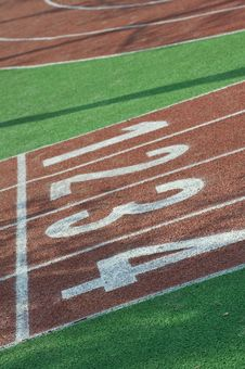 Free Running Track Lines Royalty Free Stock Photos - 16041668