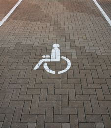 Free Parking Place For Invalids Royalty Free Stock Photo - 16041685