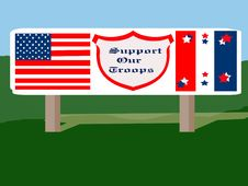 Free Patriotic Road Sign Stock Photo - 16042250