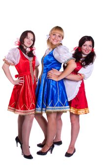 Free Three  German/Bavarian Women Royalty Free Stock Image - 16042326