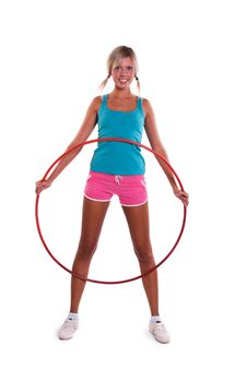 Free Woman With Hula Hoop Stock Photo - 16042370