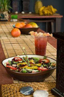 Organic Fresh Fruit Salad Royalty Free Stock Photography