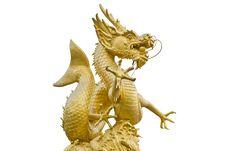 Gold Dragon Stock Image