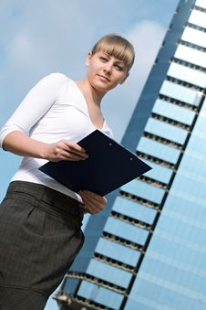 Free Beauty Business Woman On Modern Glass Building Stock Photo - 16043800