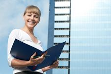 Free Beauty Business Woman On Modern Glass Building Stock Image - 16043801