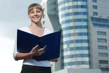 Free Beauty Business Woman On Modern Glass Building Royalty Free Stock Photography - 16043827