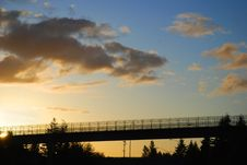 Free Sunset With Pedestrian Walkway Stock Photos - 16043893