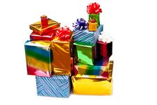 Free Stacked Gift Boxes Stock Images - 16044204