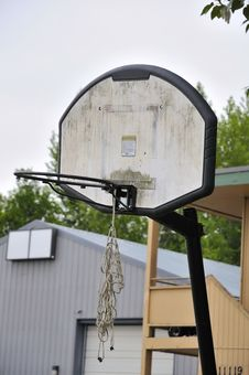 Free Old Basketball Board And Hoop Royalty Free Stock Photography - 16044617