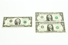 Exchange Of Dollars. Royalty Free Stock Photos