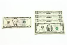 Exchange Of Dollars. Stock Photography