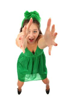 Free The Young Girl Pulls Hands Upwards Stock Photo - 16046100