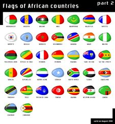 Free Flags Of Africa Royalty Free Stock Images - 16046139