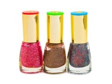 Free Multicolored Nail Polish Bottles Stock Images - 16047174