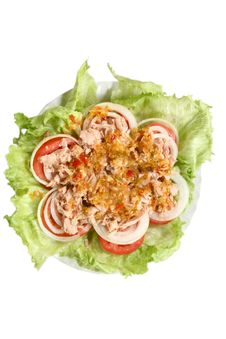 Free Thai Spicy Tuna Salad Royalty Free Stock Photos - 16047878