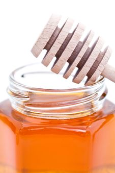 Free Honey And Dipper Stock Photography - 16049052