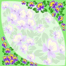 Free Frame Of Violets Stock Image - 16049281