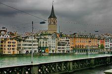 Free Zurich. The Bund Of River Limmat Royalty Free Stock Photo - 16049925