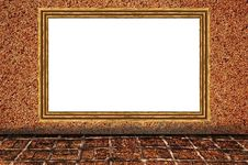 Sand Wall Background As Wooden Photo Frame Royalty Free Stock Photos