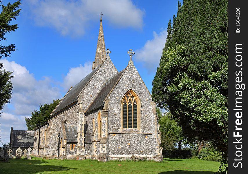An English Village Church and Steeple