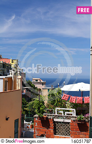 Free Italian Ocean View Royalty Free Stock Photography - 16051787
