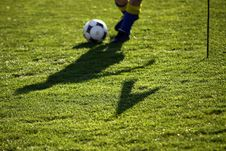 Detail Of Foot And Ball Stock Images