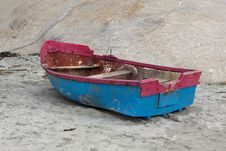 Free Fishing Boat On Beach Stock Image - 16050191