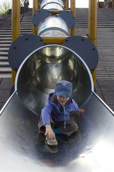 Free Sliding Boy Stock Image - 16050291